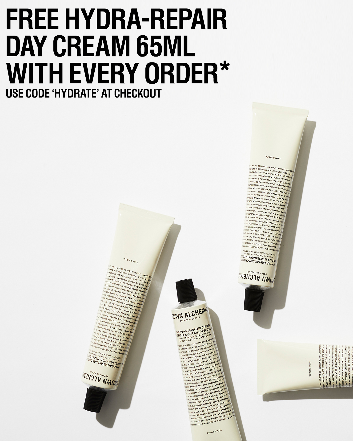 Free Hydra-Repair Day Cream with the code HYDRATE